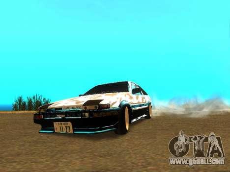 Toyota Corolla AE86 Trueno JDM for GTA San Andreas right view