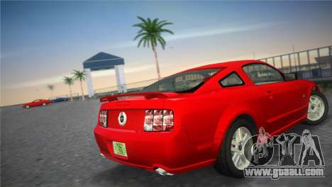 Ford Mustang GT 2005 for GTA Vice City back left view