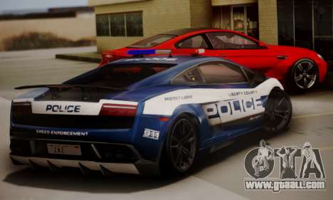 Lamborghini Gallardo LP 570-4 2011 Police v2 for GTA San Andreas back left view
