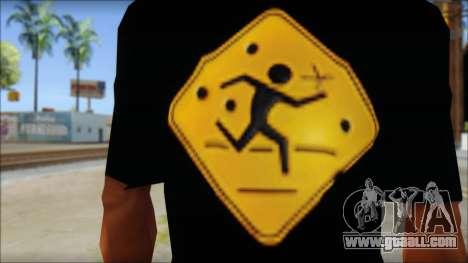 Running With Scissors T-Shirt for GTA San Andreas third screenshot