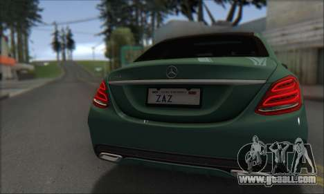Mercedes-Benz C250 V1.0 2014 for GTA San Andreas inner view