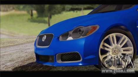 Jaguar XFR v1.0 2011 for GTA San Andreas back left view