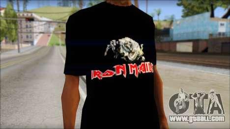 Iron Maiden T-Shirt for GTA San Andreas third screenshot