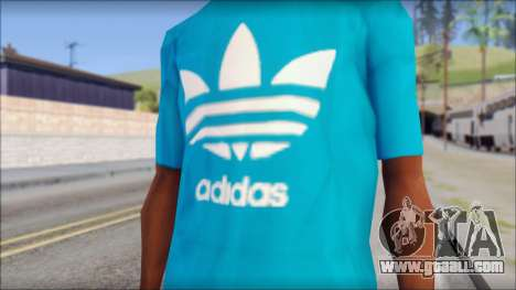 Blue Adidas Shirt for GTA San Andreas third screenshot