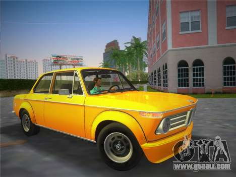 BMW 2002 Tii (E10) 1973 for GTA Vice City back left view