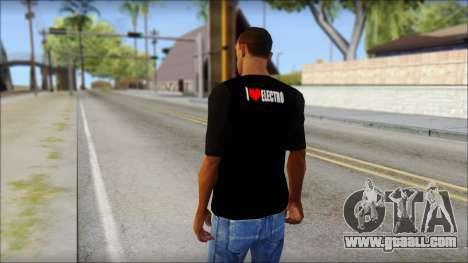 I Love Electro T-Shirt for GTA San Andreas second screenshot