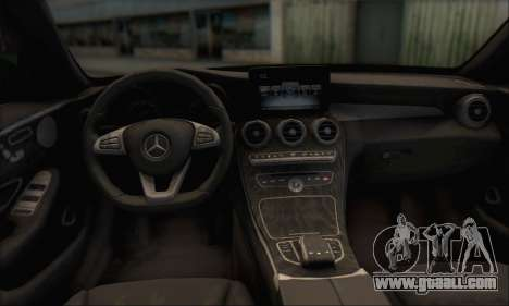 Mercedes-Benz C250 V1.0 2014 for GTA San Andreas upper view