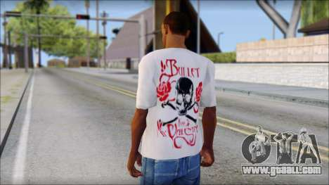 Bullet For My Valentine White Fan T-Shirt for GTA San Andreas second screenshot