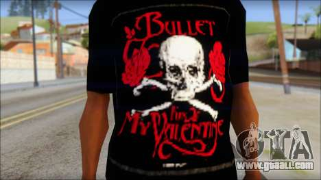 Bullet for my Valentine Fan T-Shirt for GTA San Andreas third screenshot