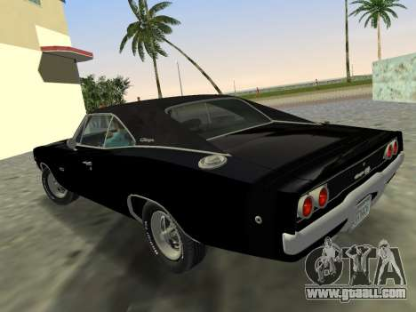 Dodge Charger RT 426 1968 for GTA Vice City left view