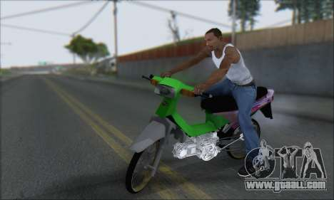 Kawasaki Kaze R for GTA San Andreas left view