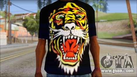 Ed Hardy Lion T-Shirt for GTA San Andreas third screenshot