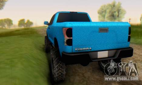 Toyota Tundra OFF Road Tuning Blue Star for GTA San Andreas right view