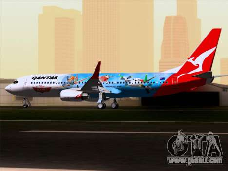 Boeing 737-800 Qantas for GTA San Andreas inner view