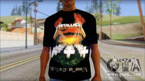 Metallica Master Of Puppets T-Shirt for GTA San Andreas third screenshot