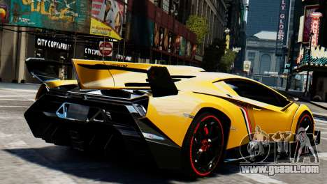 Lamborghini Veneno 2013 for GTA 4 left view
