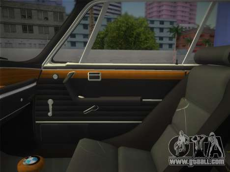 BMW 3.0 CSL 1971 for GTA Vice City back view