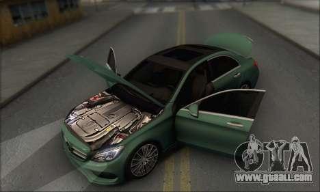 Mercedes-Benz C250 V1.0 2014 for GTA San Andreas bottom view
