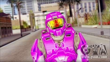 Masterchief Purple from Halo for GTA San Andreas third screenshot