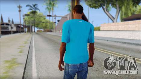 Blue Adidas Shirt for GTA San Andreas second screenshot