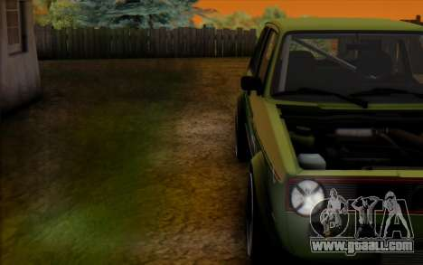 Volkswagen Golf Mk I for GTA San Andreas right view