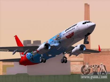 Boeing 737-800 Qantas for GTA San Andreas back view