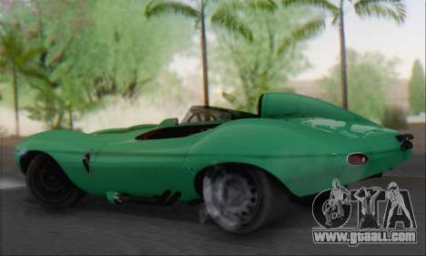 Jaguar D Type 1956 for GTA San Andreas left view