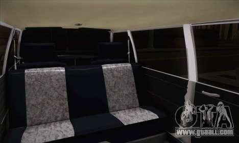 Peykan 1600i Limo for GTA San Andreas back left view