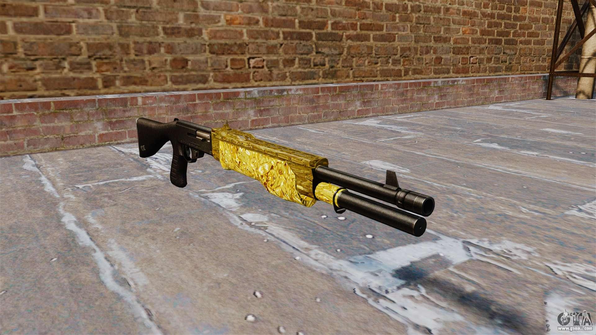 Gun Franchi Spas 12 Gold For Gta 4