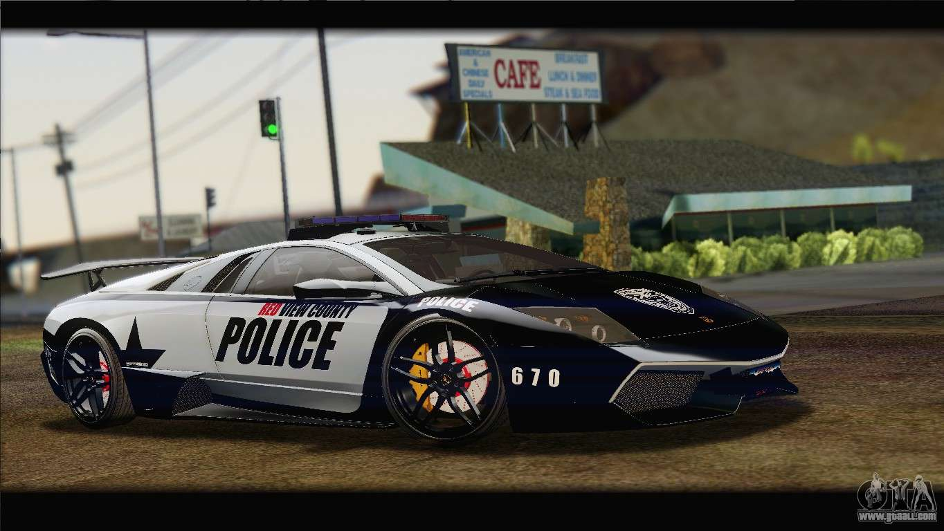 Lamborghini Murcielago Lp670 Sv Police For Gta San Andreas