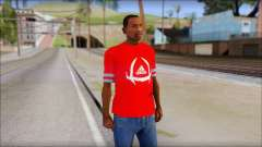 T-Shirt Adidas Red for GTA San Andreas