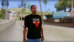 Chicago Bulls Black T-Shirt for GTA San Andreas