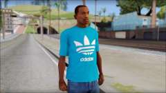 Blue Adidas Shirt for GTA San Andreas