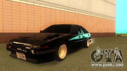 Toyota Corolla AE86 Trueno JDM for GTA San Andreas