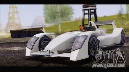Caparo T1 2012 for GTA San Andreas