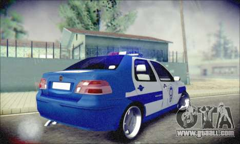 Fiat Albea Police Turkish for GTA San Andreas right view