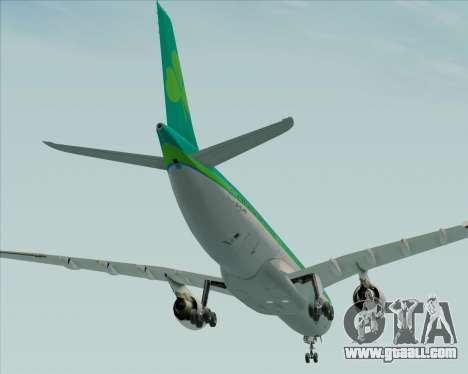 Airbus A330-300 Aer Lingus for GTA San Andreas bottom view