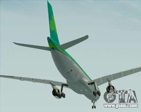 Airbus A330-300 Aer Lingus for GTA San Andreas bottom view