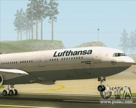 Airbus A340-313 Lufthansa for GTA San Andreas upper view
