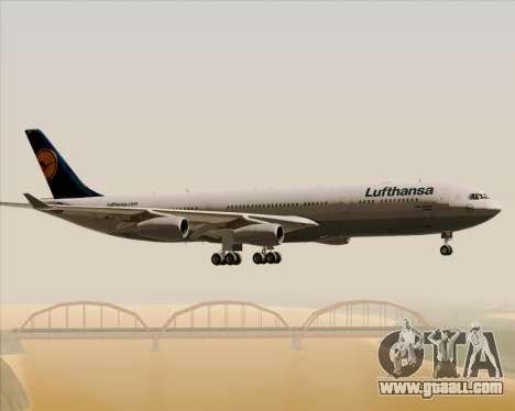 Airbus A340-313 Lufthansa for GTA San Andreas bottom view