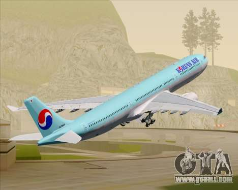 Airbus A330-300 Korean Air for GTA San Andreas wheels