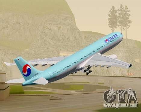 Airbus A330-300 Korean Air for GTA San Andreas wheels