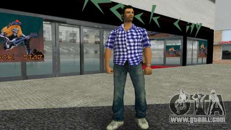 Kockas polo - sotetkek T-Shirt for GTA Vice City second screenshot