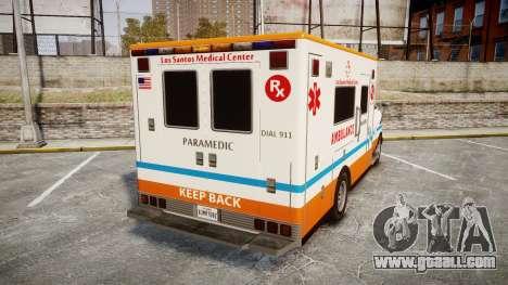 GTA V Brute Ambulance [ELS] for GTA 4 back left view