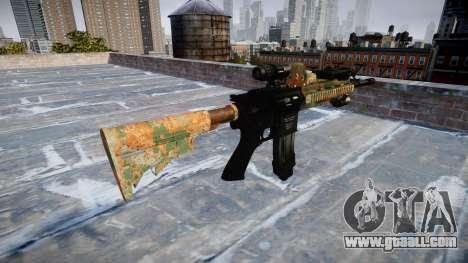Automatic rifle Colt M4A1 jungle for GTA 4 second screenshot