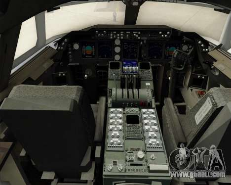 Boeing 747-8 Cargo Nippon Cargo Airlines for GTA San Andreas interior