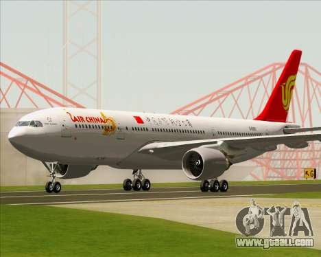 Airbus A330-200 Air China for GTA San Andreas left view