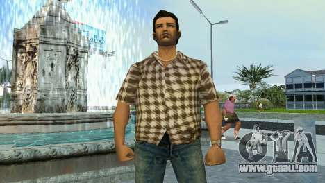 Kockas polo - koszos T-Shirt for GTA Vice City second screenshot