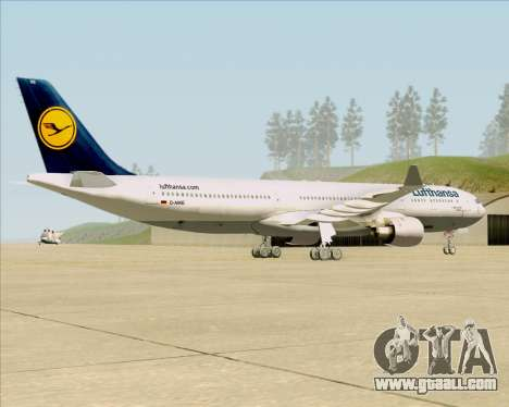 Airbus A330-300 Lufthansa for GTA San Andreas right view