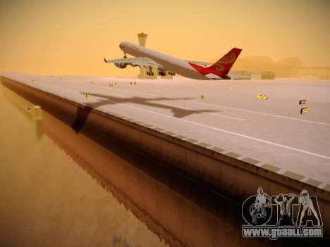 Airbus A340-600 Hainan Airlines for GTA San Andreas back left view